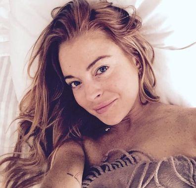 Lindsay Lohan, selfie, Instagram