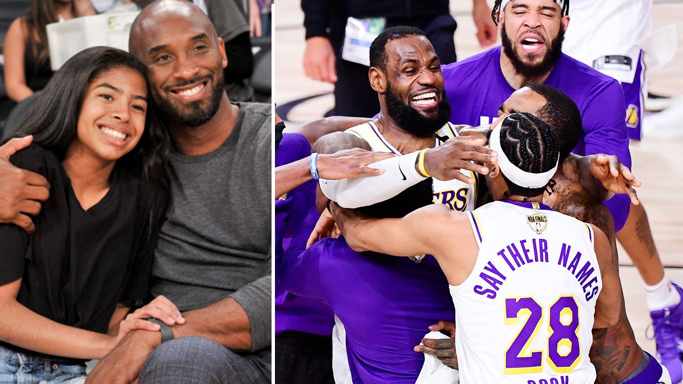 Kobe and Gianna Bryant, Lakers 2020
