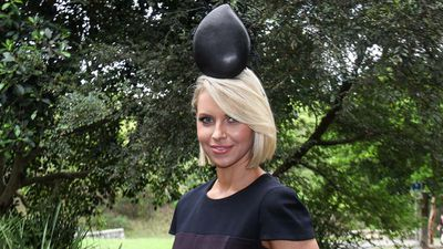 Leather is the ultimate millinery fabric and is trans-seasonal so it can be worn all year round. This sculptured leather hat is by Dianne Barbour Millinery. (Sydney Event Blogger)