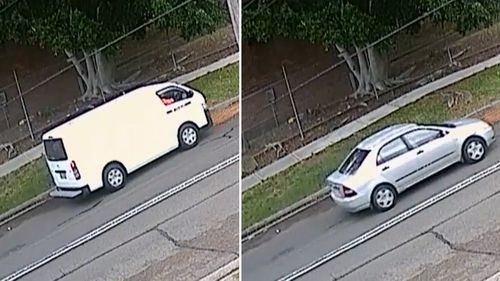 Police released CCTV of a silver Toyota Corolla and white Toyota Hiace van. Officers think the occupants of these vehicles may have witnessed the events prior to, and after Mr Hamzy's shooting.