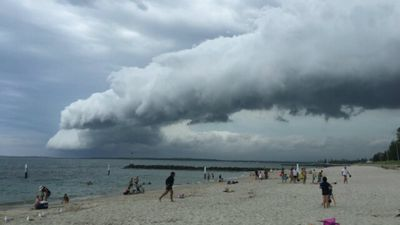Jamie from Banksia snapped a pic of the cloud formation over Brighton Le Sands. (Supplied)