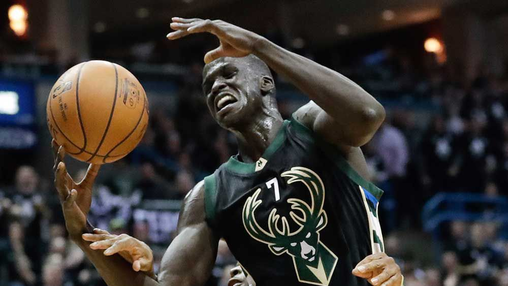 Thon Maker had a strong game against the Raptors. (AAP)
