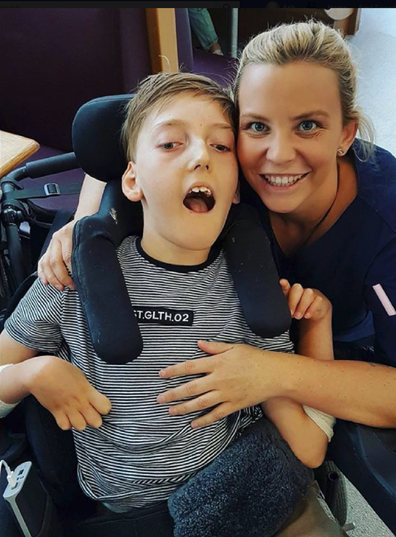 Nikki nurse with patient boy