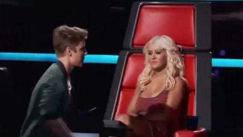 WATCH: Christina Aguilera snubs Justin Bieber on <i>The Voice US</i>