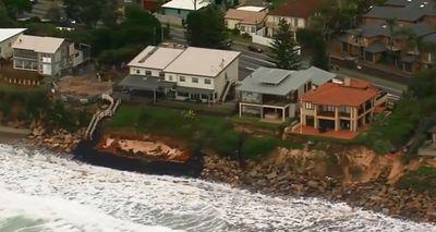 Severe beach erosion