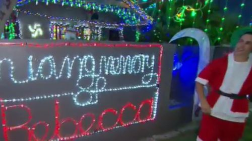 A touching message to Jackson's mum is front and centre of the display. (9NEWS)
