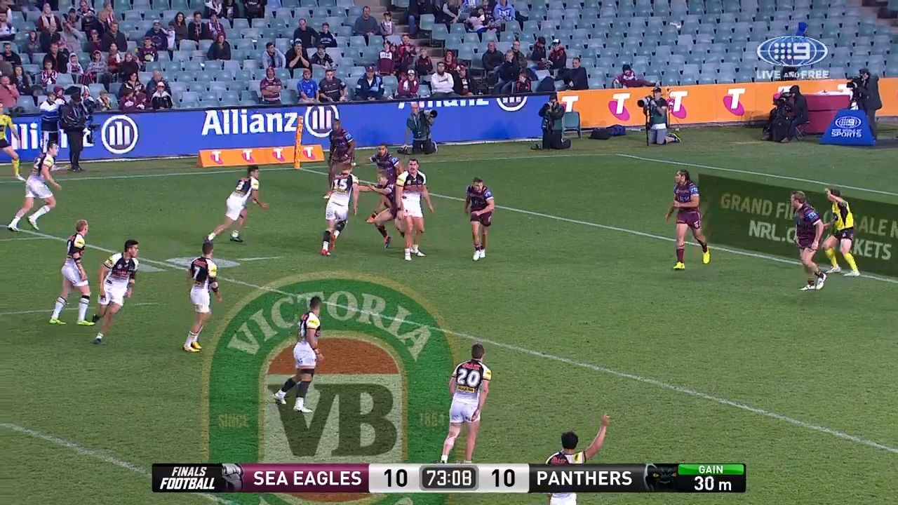 Panthers awarded controversial try