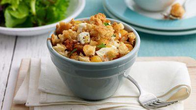 "Recipe: <a href=""http://kitchen.nine.com.au/2016/05/16/20/11/tuna-fetta-pasta-pots"" target=""_top"">Tuna and feta pasta pots</a>"
