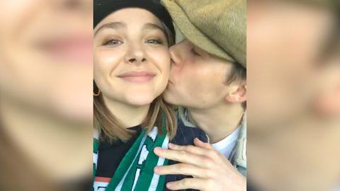 Brooklyn Beckham kisses Chloe Moretz