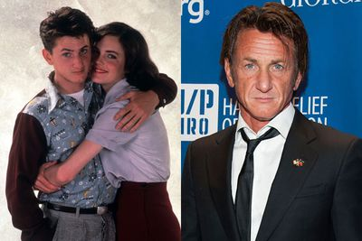 Sean Penn broke into Hollywood with his first role as a military cadet alongside a young Tom Cruise in 1981 film <i>Taps</i>, followed by a stoner in <i>Fast Times at Ridgemont High</i> and a marine in <i>Racing With the Moon</i>.<br/><br/>(Image: Sean and Elizabeth McGovern pose for <i>Racing With the Moon</i>, 1984. Source: Paramount/Getty)