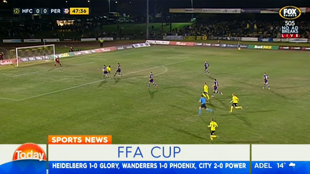 Heidelberg United shock Perth Glory