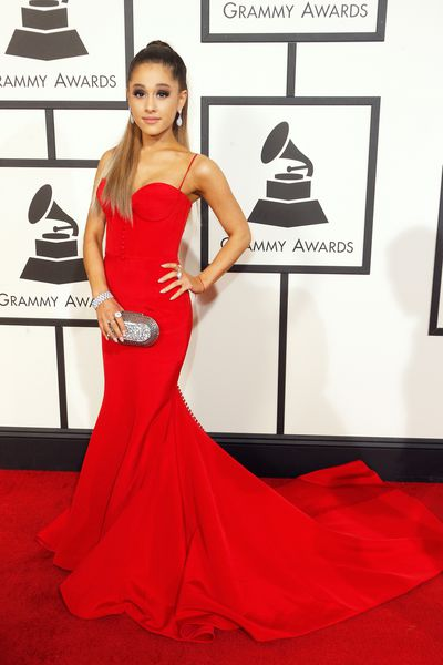 Ariana Grande in Romona Keveza at the 58th GRAMMY Awards in Los Angeles, February, 2016