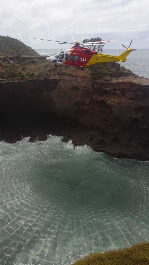 The helicopter pulled the boy to safety. (Picture: Jacob Dixon)