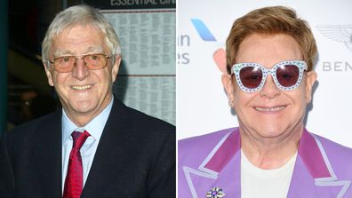 Sir Michael Parkinson and Elton John