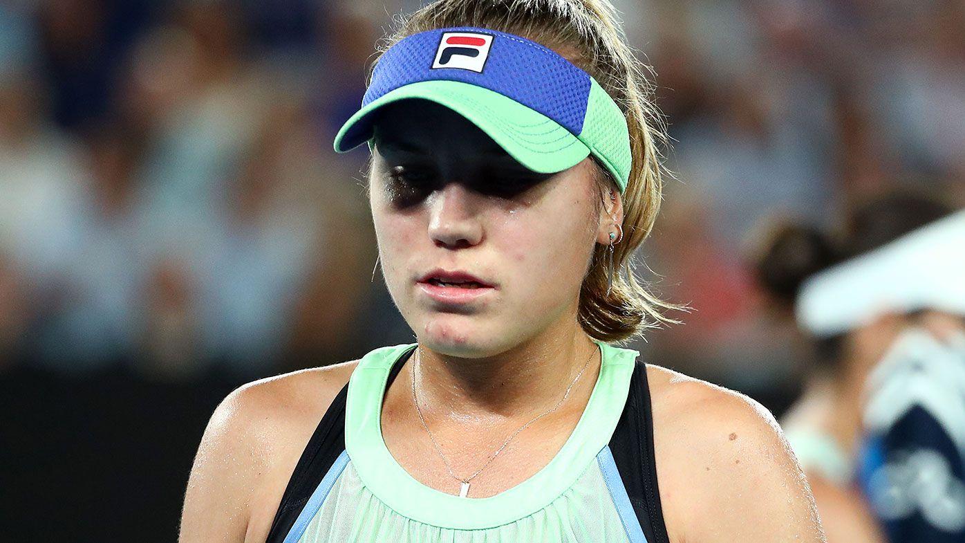 Sofia Kenin full of emotion during Australia Open final