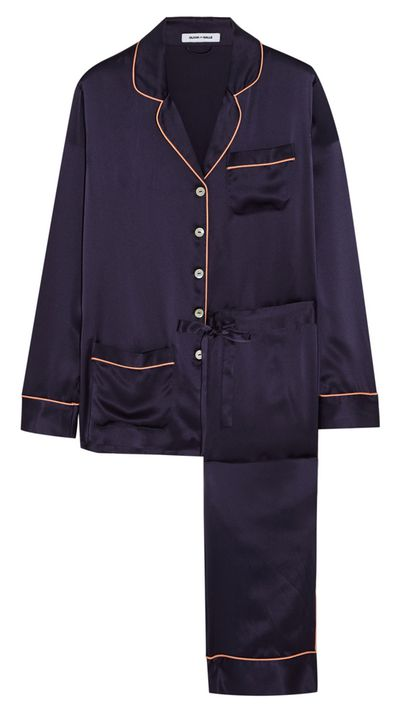 "<p><a href=""http://www.net-a-porter.com/au/en/product/524757"">Coco Silk-Satin Pajama Set, $582, Olivia von Halle</a></p>"