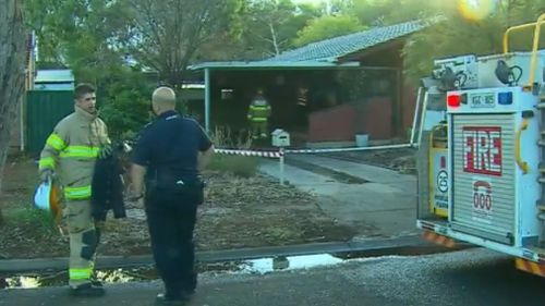 The boy was taken to hospital suffering burns. (9NEWS)