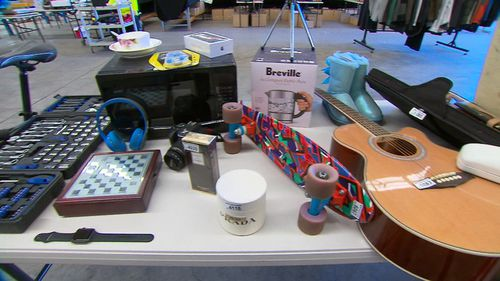 Items left and lost at Sydney airport over the last year will be auctioned off for charity next week. (9NEWS)