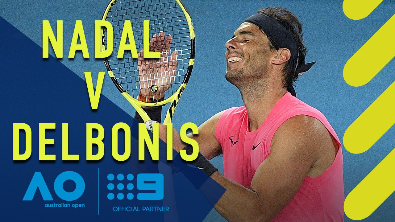 Rafael Nadal v Federico Delbonis: AO Highlights ...