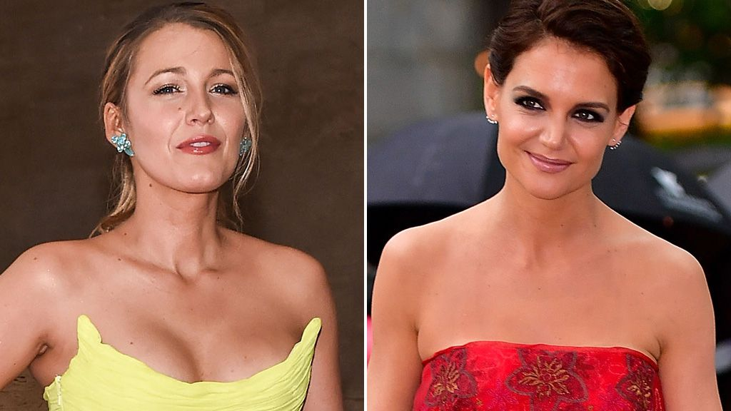 Blake Lively and Katie Holmes. Image: Getty