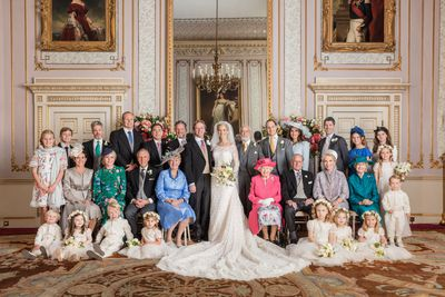 The Queen at Lady Gabriella Windsor's wedding, May 2019