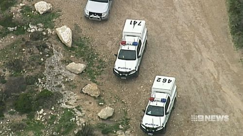 Police and paramedics rushed to the isolated beach, but he could not be saved.