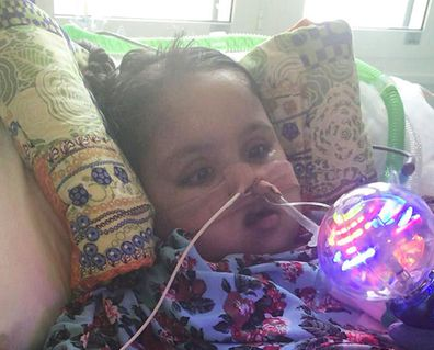 The couple want their severely disabled daughter to keep getting life support treatment.