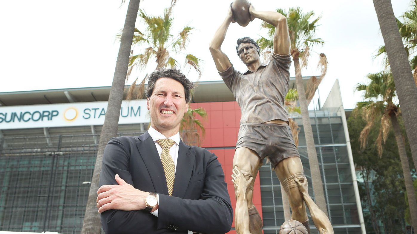 John Eale's statue is revealed