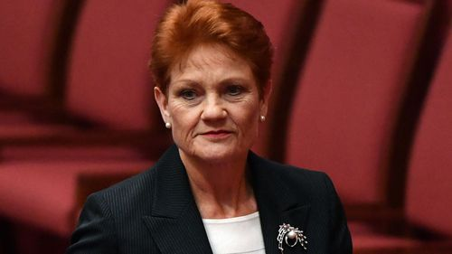 Pauline Hanson withdrew her support for the tax cuts last week. Picture: AAP