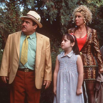 Danny Devito and Rhea Perlman as Mr. and Mrs. Wormwood: Then