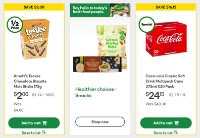 Woolies has similar delivery windows to Coles for online shopping.