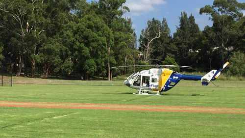 A rescue helicopter was sent to the scene.