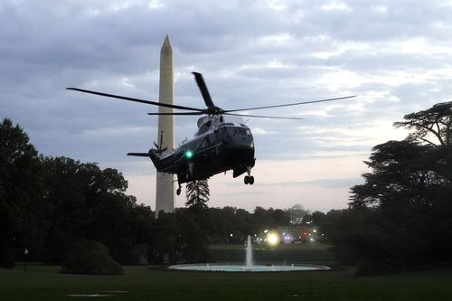 President Trump leaves Walter Reed National Military Medical Center, where he spent three nights being treated for coronavirus.