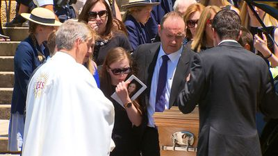 Friends and family have turned out to farewell Sydney teenager  Georgina Bartter. (9NEWS)