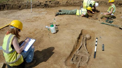 It is believed some of the bodies were buried face down because they were criminals or as a sign of shame from their families.