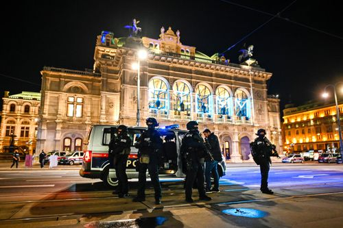 The inner city was packed ahead of the midnight start of the lockdown, and footage shared on social media showed people running away from the scene.