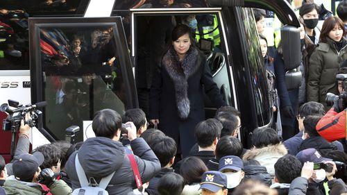 Hyon Song Wol visits South Korea. Photo: AP