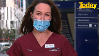 Victorian healthcare workers are breathing a sigh of relief as coronavirus cases drop.