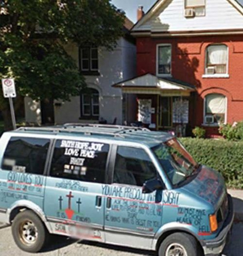 Image of the minivan belonging to Peter Wald