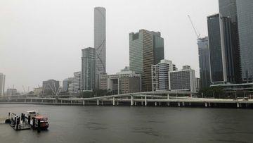 Wet weather in Brisbane.