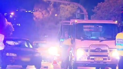 Traffic was brought to a standstill following the incident. (9NEWS)