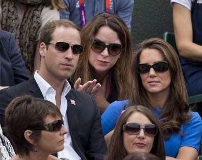 Rebecca with the Duke and Duchess of Cambridge at the tennis during the London Olympics in 2012.