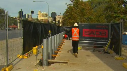 The measures are designed to protect crowds from terror attacks. (9NEWS)