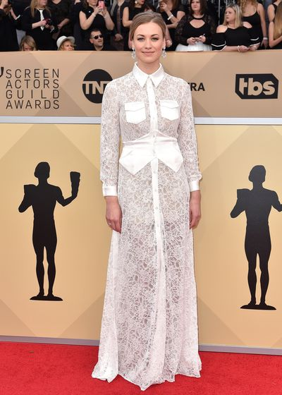 <p>Yvonne Strahovski is known for taking her casual cool style to the next level at red carpet events. Image: Getty.</p>