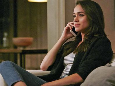 Meghan Markle playing Rachel Zane in TV drama Suits - Season 6