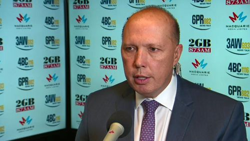 Speaking on radio in Sydney this morning, Mr Dutton slammed 'Victoria's problem' with gangs.