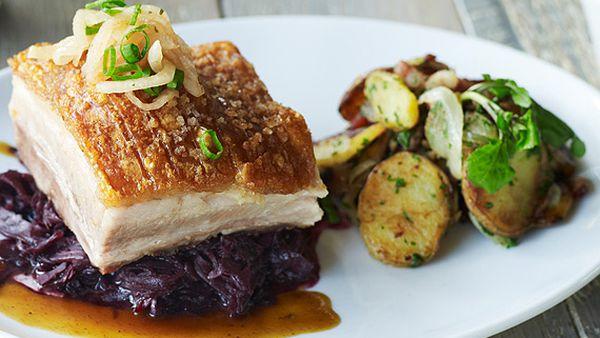 Bavarian Bier Café's roasted pork belly