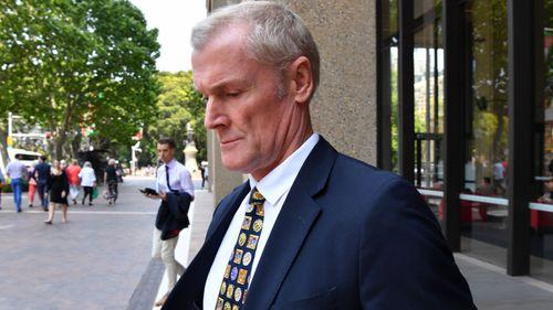Gordon Wood outside court today.