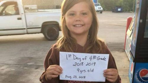 Nine-year-old girl dies in car crash in US just minutes after taking first day of school photo