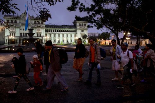 Mexico dispatched additional police to its southern border, after the Casa del Migrante migrant shelter in Tecun Uman on the Guatemalan side of the border reported that hundreds of Hondurans had already arrived there.